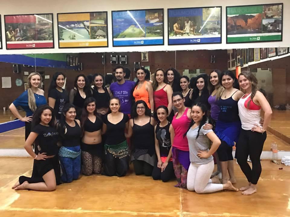 clase con amara sadeh en el congreso bellydance internacional de tiare tahiti